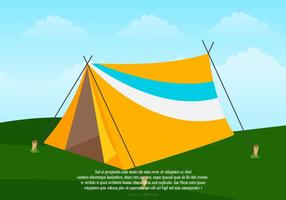 Ilustração de acampamento de tenda