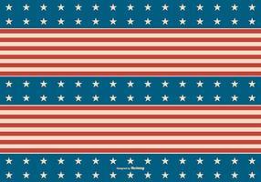 Fundo Patriótico Americano Retro vetor