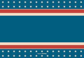 Fundo Patriótico do Estilo Retro Americano vetor