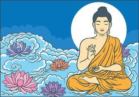 Buddah Ilustração vetorial vetor