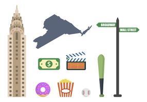 vetores planos de nova york