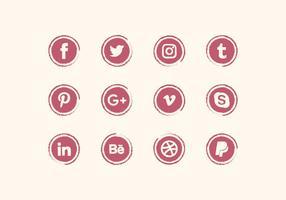 Conjunto de ícones de mídia social do vetor
