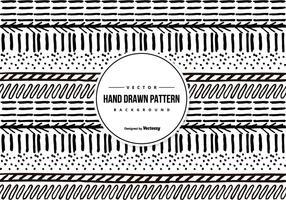Desenho desenhado à mão padrão fundo padrão vetor