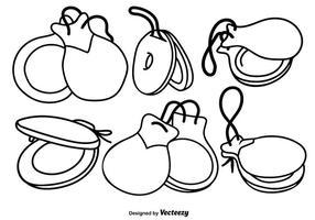 Castagens de vetores definem ícones desenhados à mão