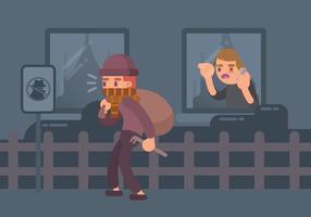 Ilustração do homem suspeito vetor