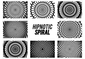 Conjunto de espiral de hipnose vetor