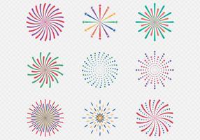 Celebração de exibição de fogos de artifício vetor
