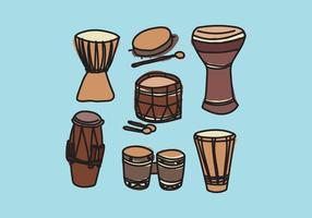 Vetores de tambor coloridos