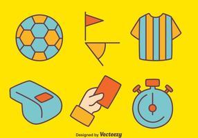 Vector do Elemento do Árbitro do Futebol
