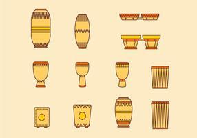 Percussão de música tradicional Conga vetor
