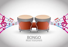 vetor de música bongo