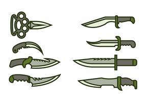 Ícone do ícone da baioneta vetor