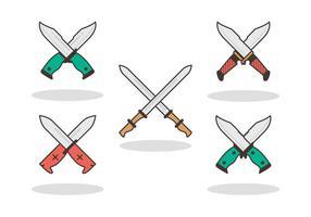 Vetores icônicos de baionetas grátis