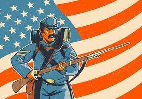 Soldado com vetor de baioneta