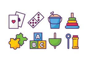 Conjunto de ícones de brinquedos vetor