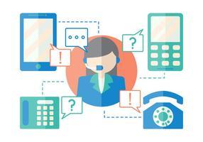 Vetores Iconic Call Center gratuitos