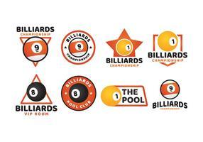 logotipo de bilhar esporte vetor