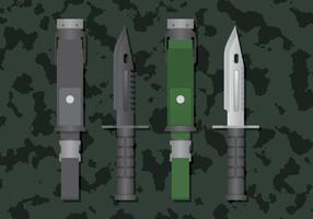 ilustração de metal afiado de baioneta vetor