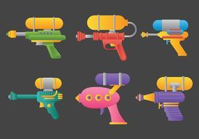 Ícones do vetor Watergun