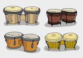 Coleção étnica do bongo Ilustração desenhada mão do vetor