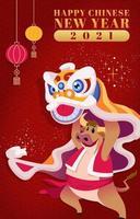 conceito de cartão de ano novo chinês vetor