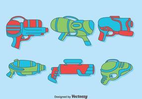 Vector de coleção de Watergun desenhado à mão