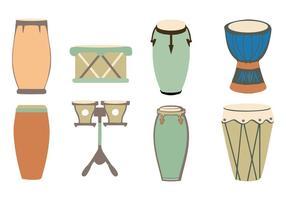 vetor de tambores africanos tradicionais gratuitos