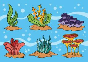 Ícones do vetor do Weed do mar