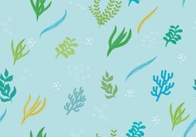 Fundo de plantas marinhas sem costura vetor