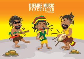 djembe percussão de música vetor
