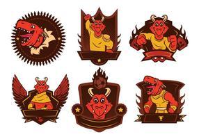 Vector do logotipo do dinossauro