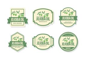 etiqueta de óleo de jojoba vetor livre