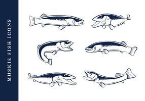 peixe de muskie vetor