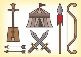 Ícones do vetor mongol