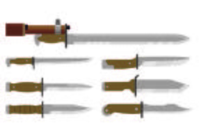 Conjunto de ícones de baioneta vetor
