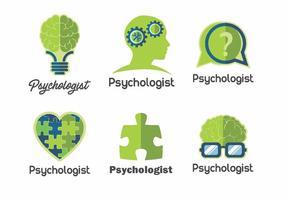 Pacote de vetores do logotipo da psicologia