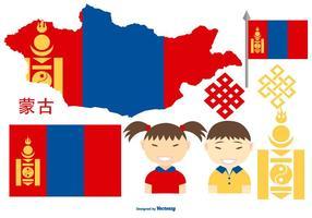 Coleção de elementos vetoriais da Mongólia vetor