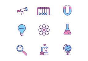 Ícones de Ciência vetor
