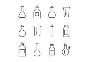 Conjunto De Vasos De Laboratório vetor