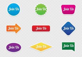 Junte-se a nós Conceito de botão da Web vetor