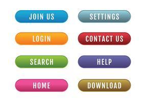 Conjunto de botões do site vetor