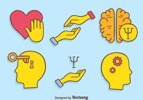 Vector desenhado a mão do psicólogo