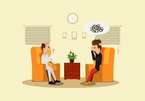 Vector de ilustração do psicólogo