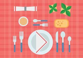 Comer em um vetor de restaurante
