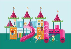 Playground colorido ou ginásio da selva para crianças vetor