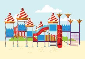 Parque infantil para crianças ou ginásio da selva vetor