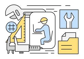 Ilustração de engenharia gratuita vetor