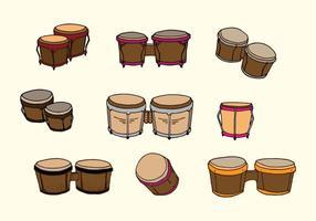 vetor tambor bongo