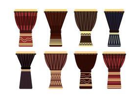 Conjunto de vetores djembe