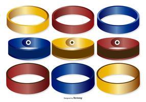 Coleção colorida de faixas de pulso vetor